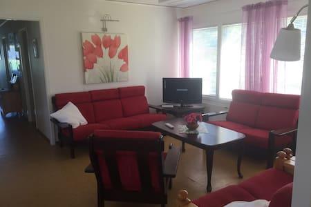 Vardagsrum utan nivåskillnad