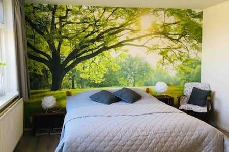 Espacio amplio alrededor de la cama