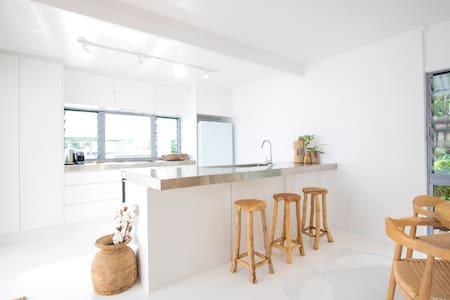 Entry to the kitchen is extra wide with no steps.