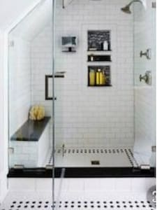 Our shower is designed exactly like this with bench seat. (Actual photo available 9/1)