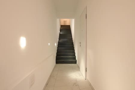 This is a photo of entrance . Unfortunately there are stairs but the width of corridor is more than one meter