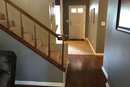Stairs leading to 3rd bedroom which is an upstairs loft. This is the only room in the house which requires stairs/steps.