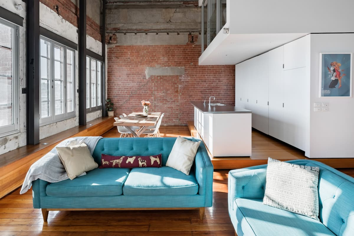 Radiant Restored Richmond Warehouse with Comfortable Study