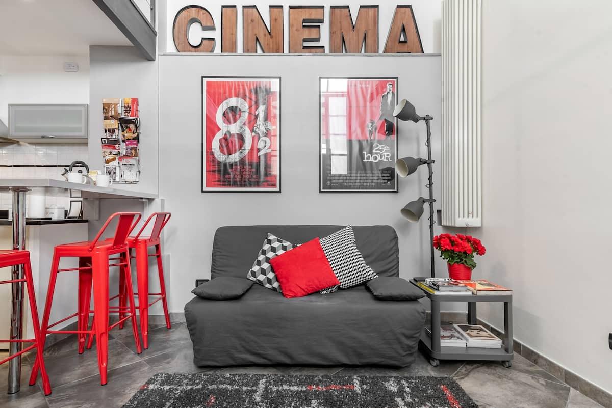 Cinema Loft. Originalità e comfort a due passi dalla Mole Antonelliana