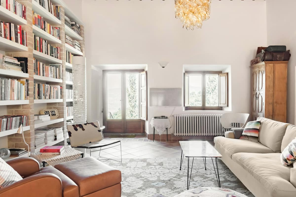 Immerse in Picture Perfect Interiors and Val D'orcia Views
