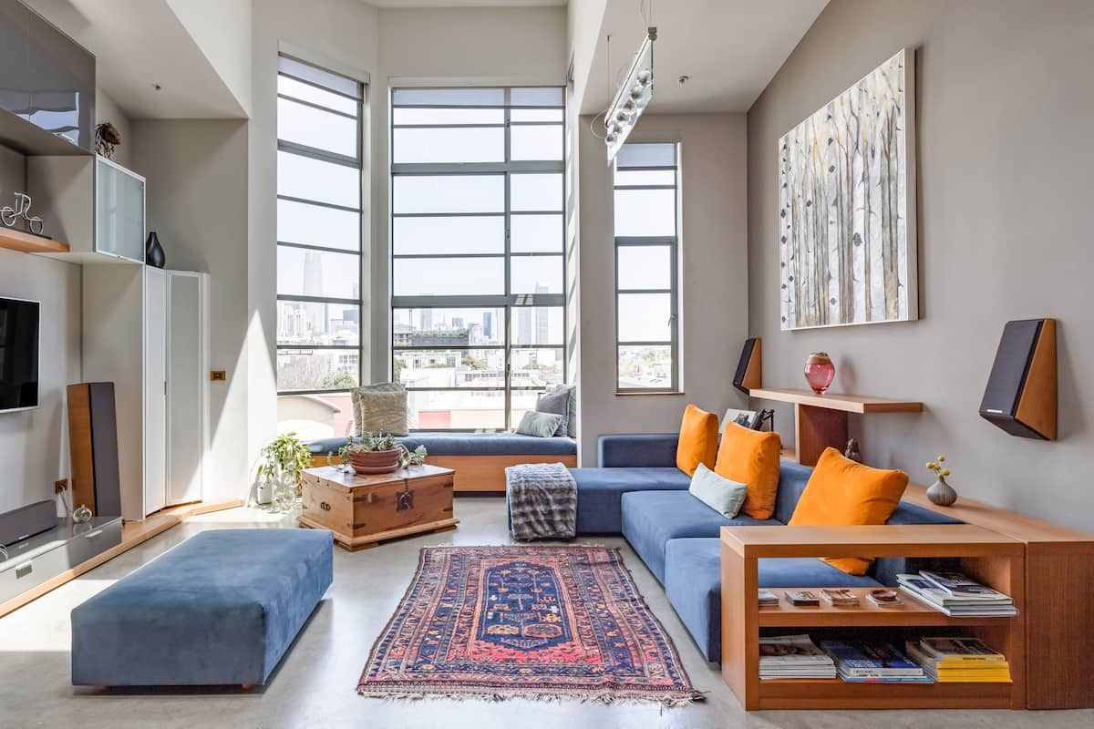 Inspiring Skyline Views From a Hip Loft in SoMa