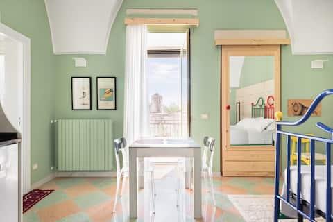 Entusiasmante e frizzante appartamento in stile Pop Art