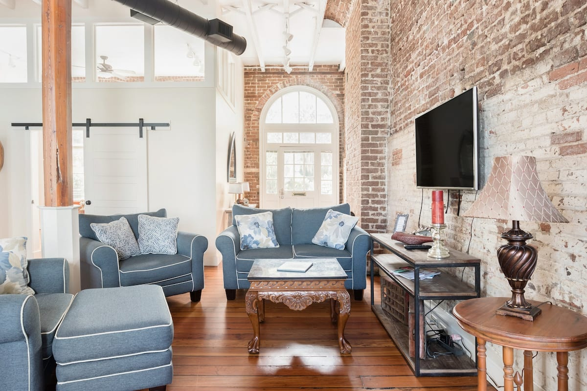 Downtown Riverfront Condo With Industrial Accents