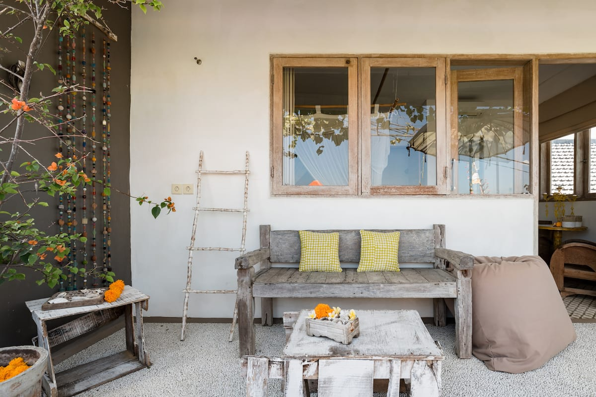 Guest Room with Balcony in Rustic Villa