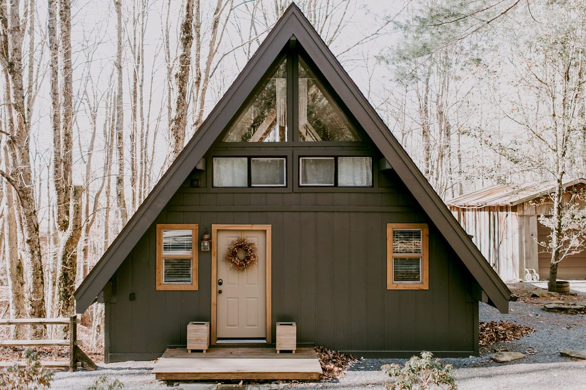 Storybook A-Frame Cabin in the Woods Close to Downtown Boone