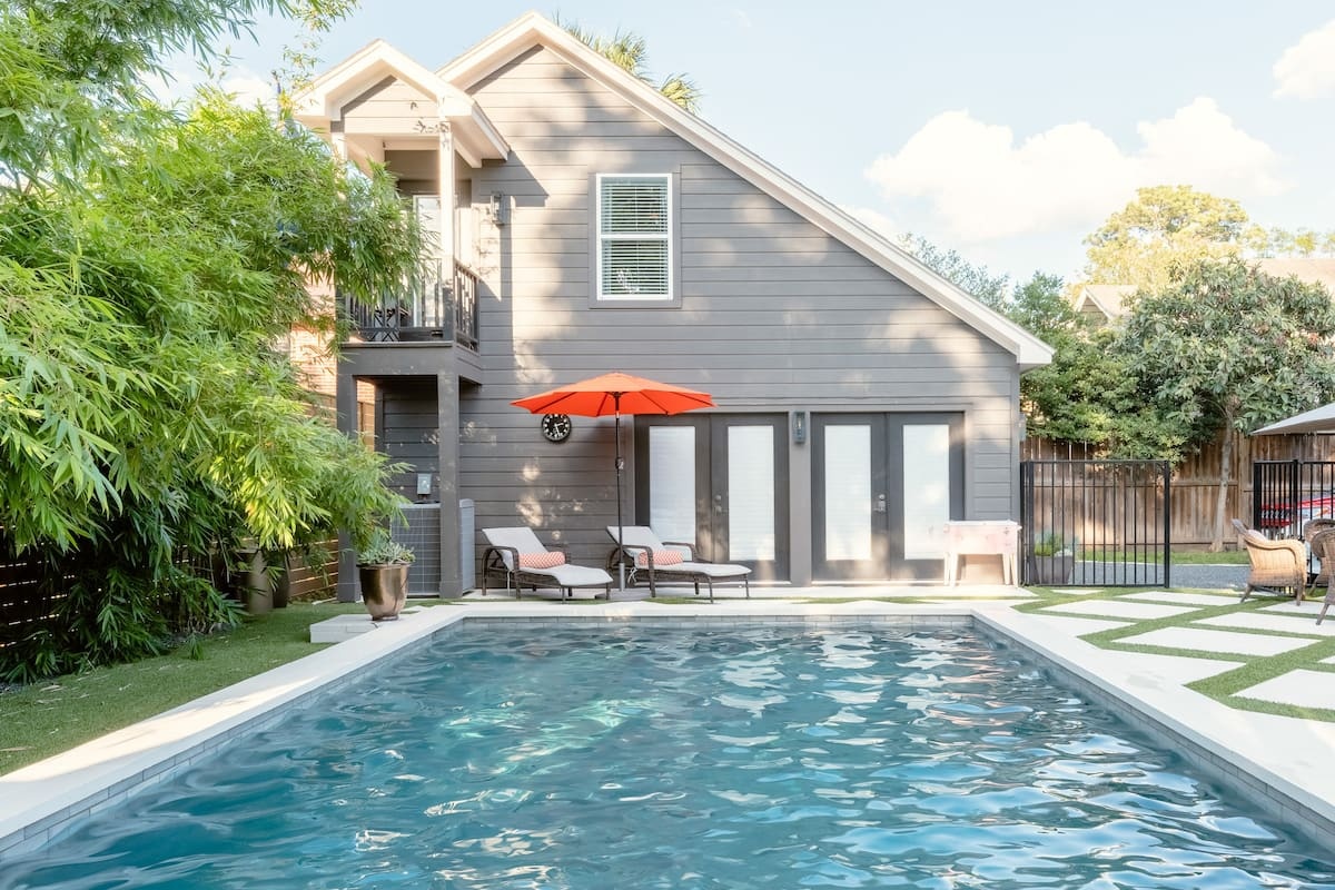Dip into This Stylish Home with Pool & Relaxing Spa