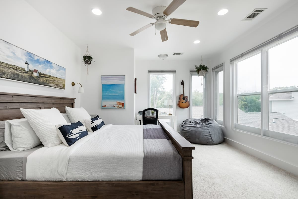 Remodeled Tarrytown Beach-Style House in Backyard