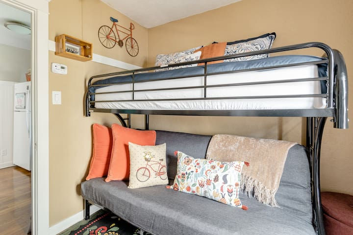 Twin over full futon bunk bed.