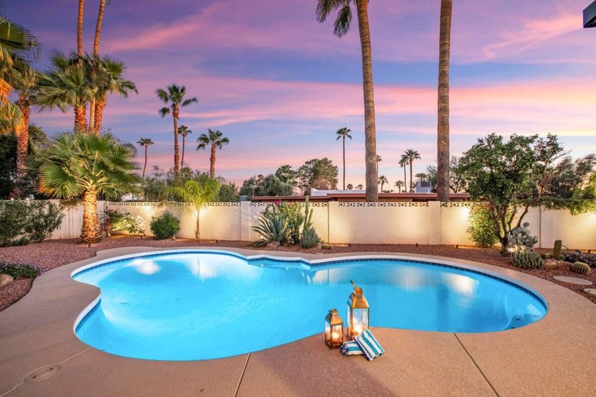 Float Under Palms in the Pool at El Sueño Scottsdale