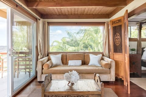 Explore the Wild Coastline Near a Bali Style Beach House