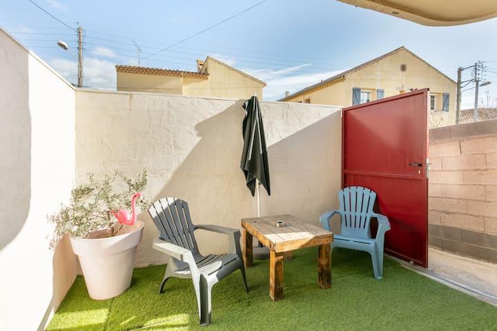 «La Fabrique» climatisé et sa terrasse privative