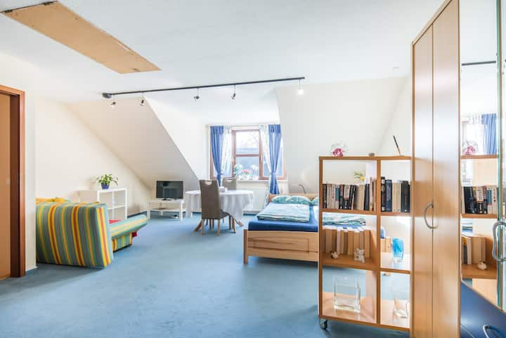 50 sqm studio - good connections to airport & city