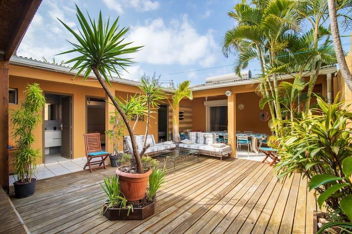 Villa Le Patio(10 per)avec Spa et à 100m du lagon