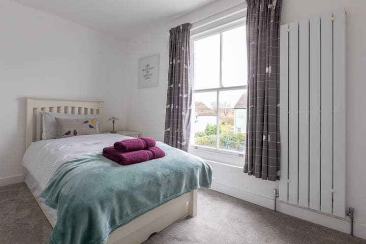 Bedroom 2 can be made up with one or two single beds