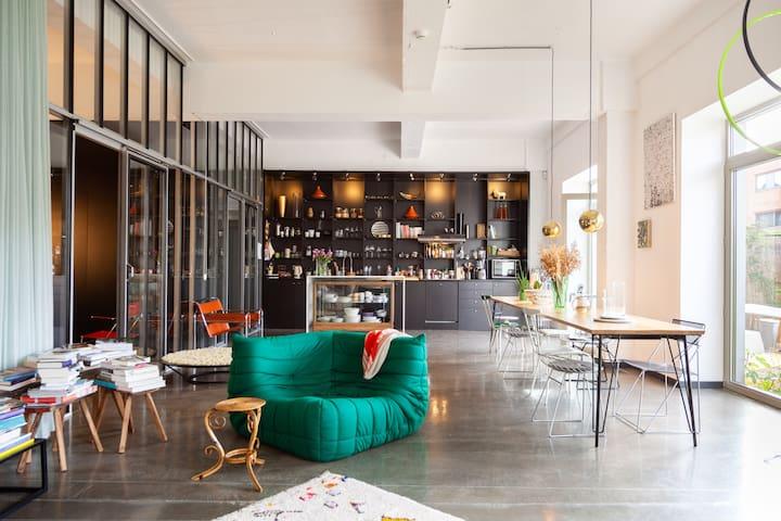 Splendid, luminous&spacious loft with garden