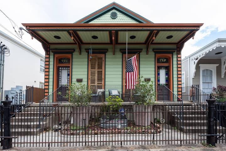 Traditional New Orleans shotgun
