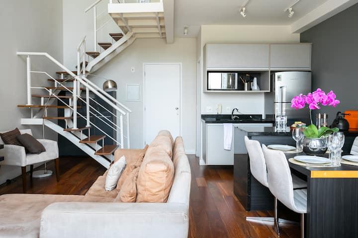 NYC Berrini apartamento Duplex - 1314 c/ varanda