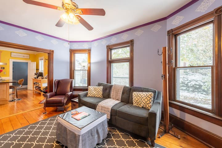 Historic Home, Private First Floor, shared kitchen
