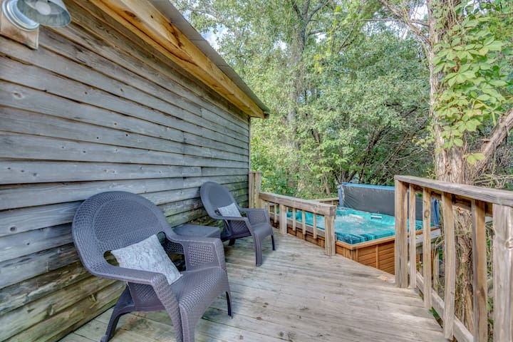Spend some time soaking in the private hot tub located off of the large back deck. This is a favorite spot for stargazing on clear nights!