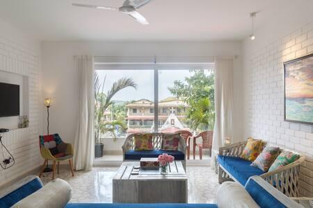 A warm beautiful 2 bedroom home near Candolim