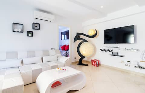 아파트 장미 | 차분하고 이상적인 가족, 200m 해변