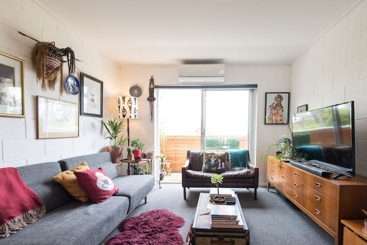 Eclectic Apartment River View Parking Walk to City