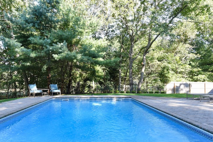 Perfect location! Spacious home with saline pool.