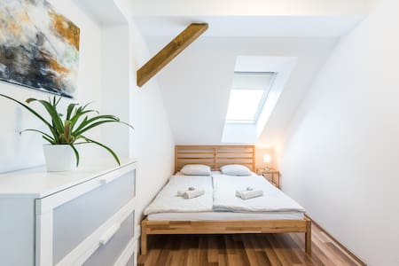 Attic flat with air conditioning, self check-in