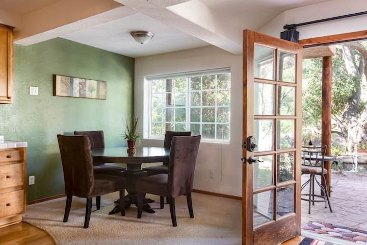 Plenty of space for the whole family for meals in this lovely dining area.
