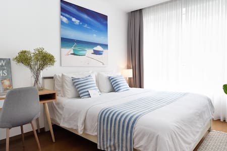 FARAWAY HOME 1 -2BRs-5 mins to airport- FREE POOL