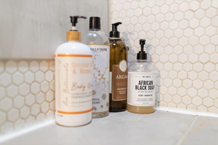 choose your shower gel flavor....