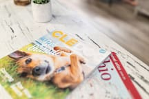 local magazines provided; map books, brochures of local things to do and restaurant menus.  Local guides to the lake Erie islands, dog friendly restaurants too!