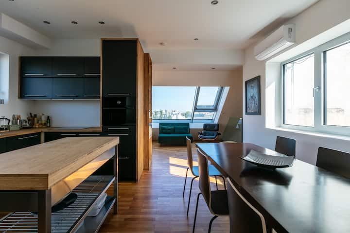 360° view over Vienna  Loft 200 m from city centre