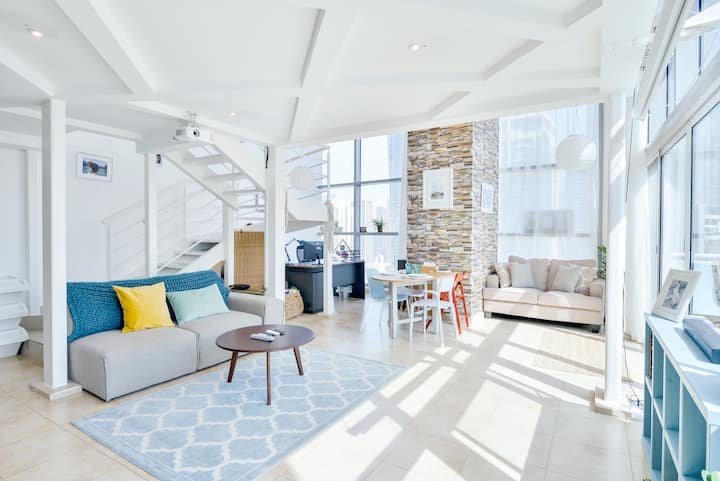 Work from Home in CORNER LOFT with Panoramic Views