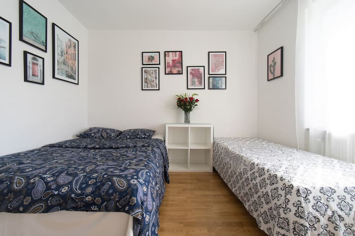 Affordable room 30 min to CPH airport by train.
