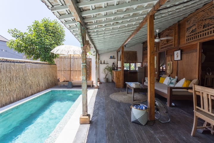 Wooden Shack in Fab Canggu with Pool - good life!