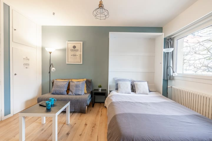 Bedsit 110★Chambery downtown★Parking★Train Station