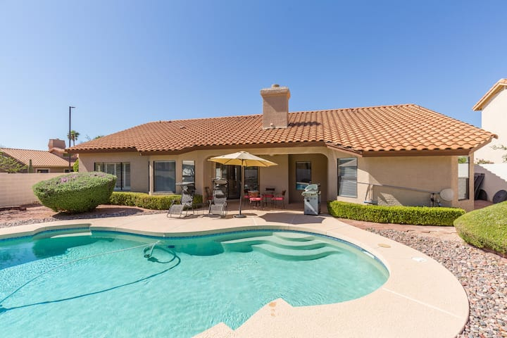 Golf resort home with private heated pool and spa!