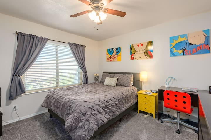 Clean Master bedroom inside townhome