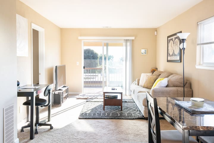 Sunny and Spacious,2 Queen Bedrooms,Full Kitchen