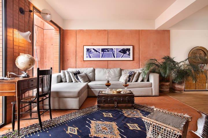 Mexican Mod Architectural Jewel PH + Priv Terrace.