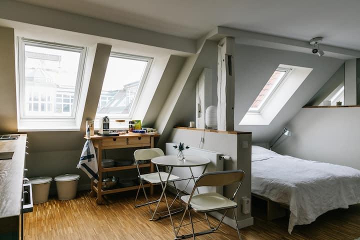 Ruhige, moderne zentrale Dachgeschosswohnung