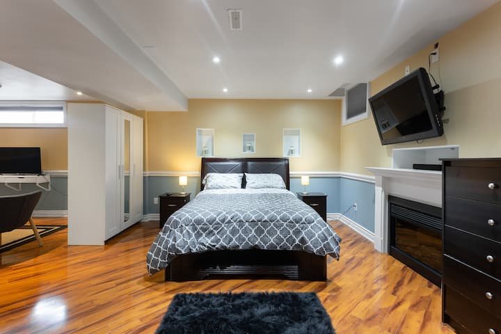 Stylish basement apartment close to Wonderland