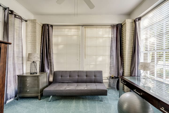 Couch folds down into a twin bed