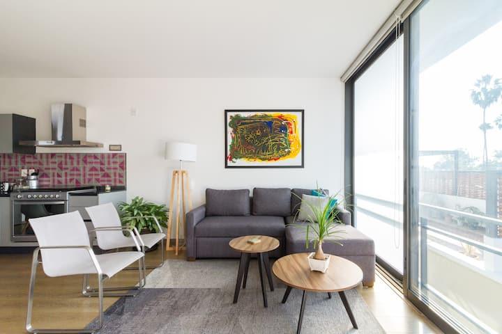 Increíble nuevo departamento con hermosa terraza